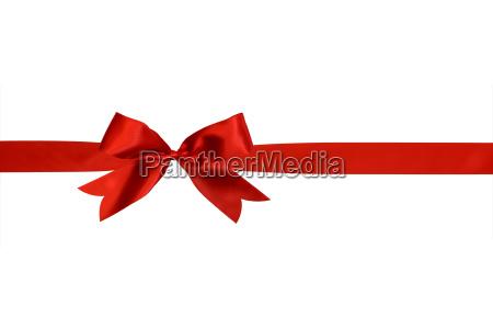 rote band mit schleife