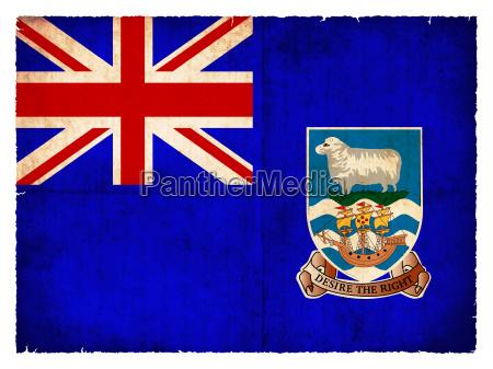 grunge flagge falkland inseln britisches UEberseegebiet
