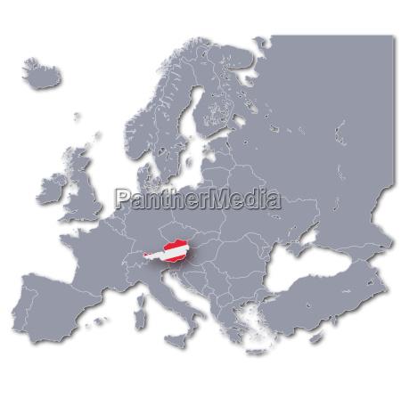 europakarte OEsterreich