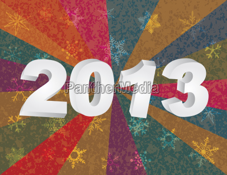 2013 new year numerals in 3d