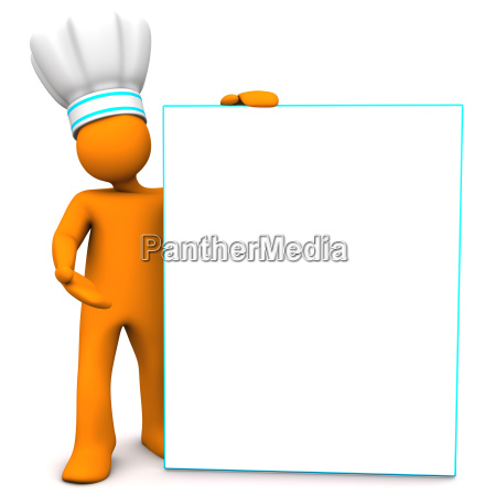 chef with sign board
