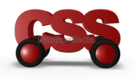 css on wheels 3d illustration