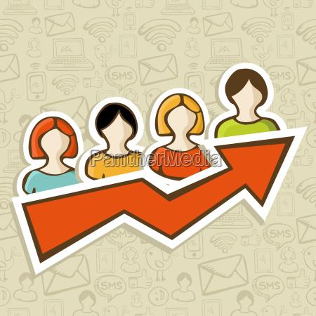 web marketing campaign success concept