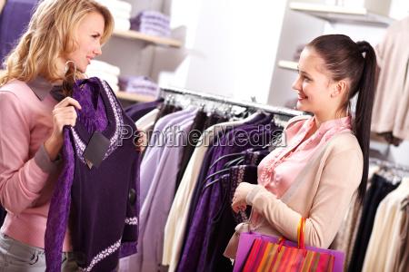 choosing new sweater