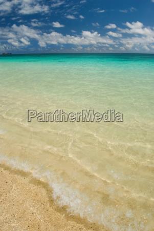 strand welle tropische tropisch salzwasser see