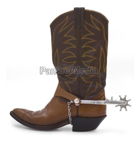 cowboystiefel und spur
