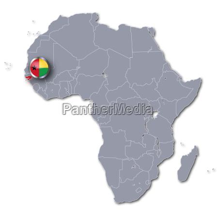 afrikakarte guinea bissau