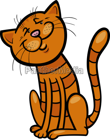 happy cat cartoon illustration