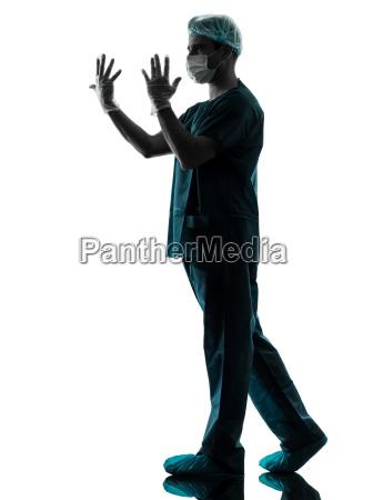 arzt chirurg mann silhouette