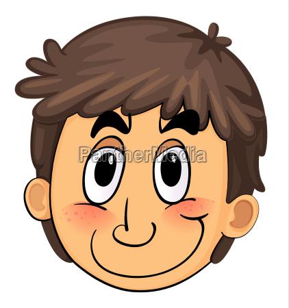 a boy face