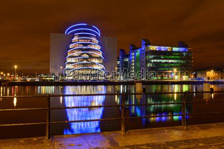 illumination on the dublin river