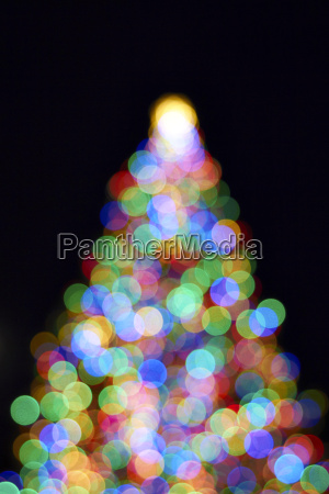 christmas tree with out of focus