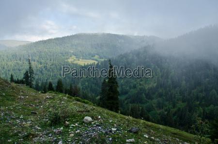 fog in the small caucasus