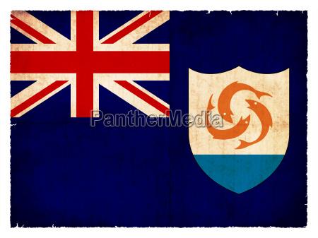 grunge flagge anguilla britisches UEberseegebiet