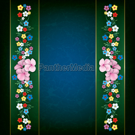 abstract grunge floral background with spring