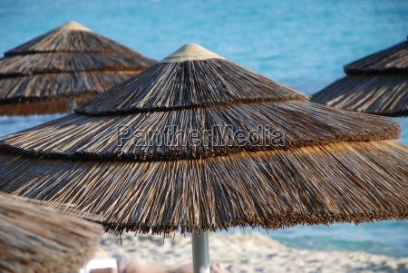parasol of straw