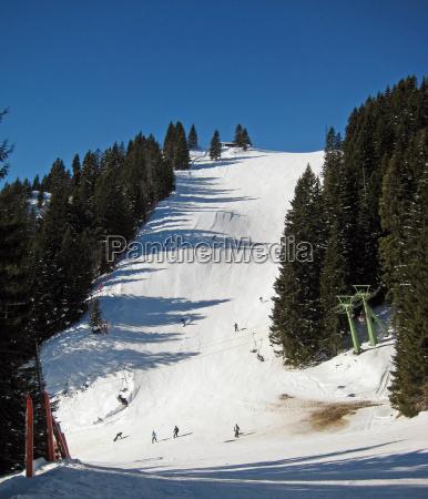 mountains winter bavaria winter sports winter