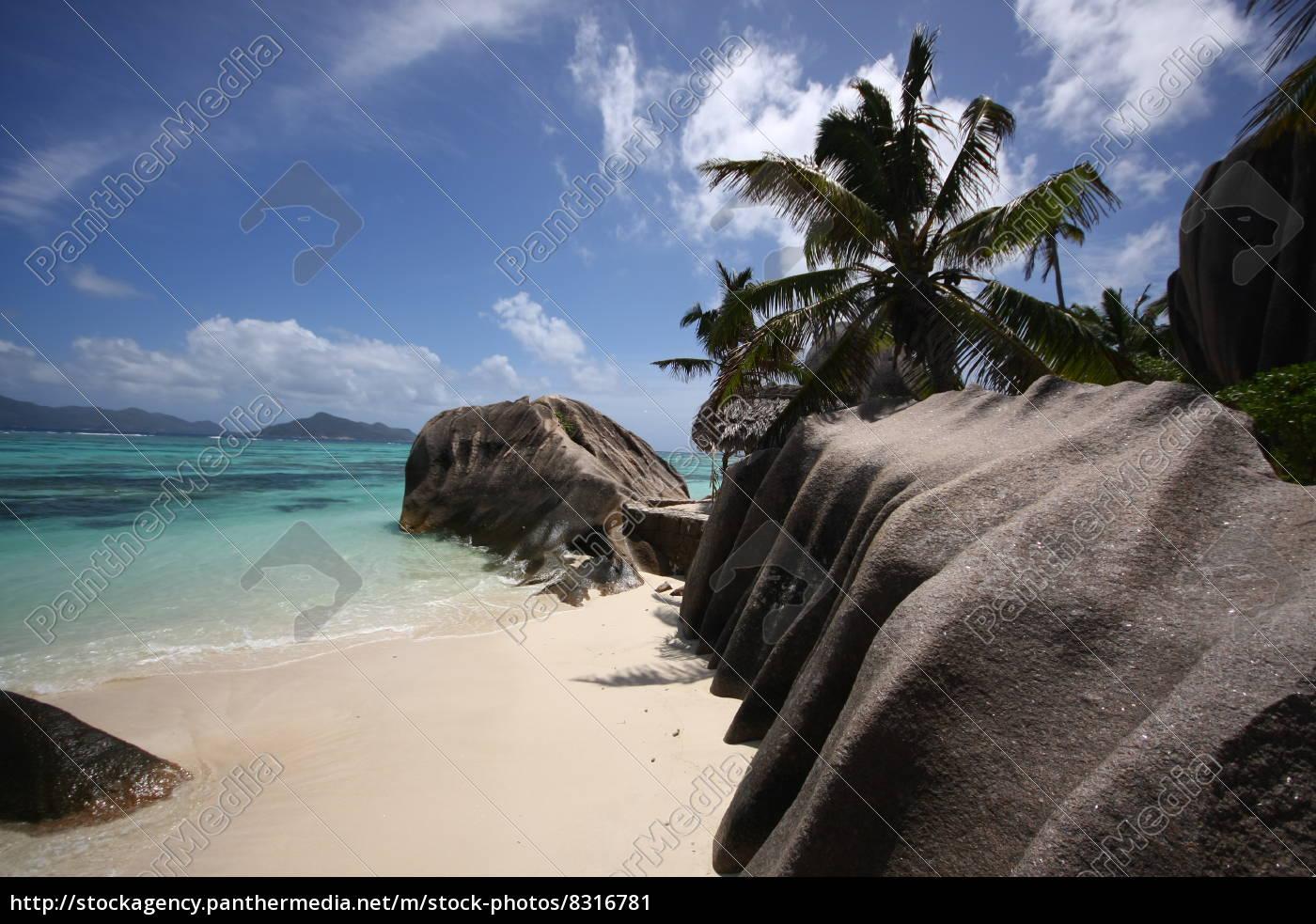 La Digue, Seychellen, Strand, Afrika, Granit, Meer - 8316781