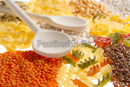 noodles rice and legumes