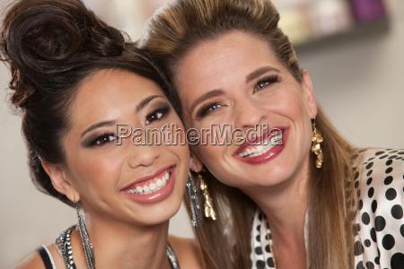 two beautiful lady friends