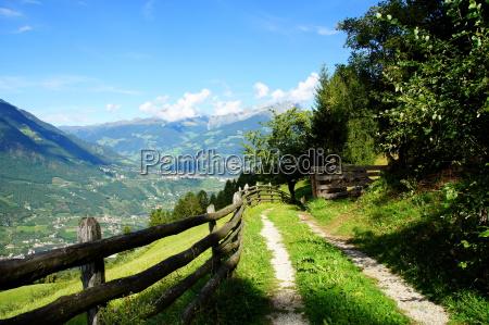 mountain landscape in the vinschgaurn