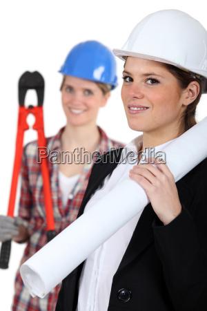 a female architect and a female