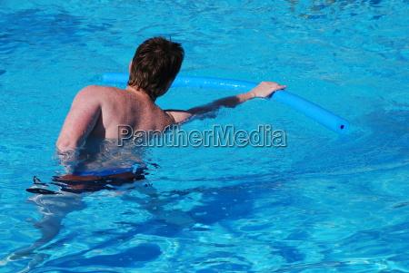 water aerobics swimming noodle foam polystyrene