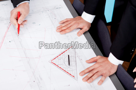 team group conference with architecture and
