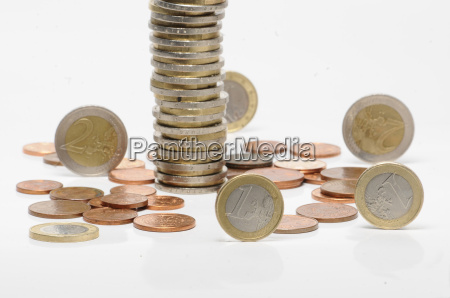 geldstabel munze munzen euromunzen euro geld