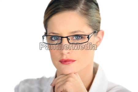 professional woman in a striking pair