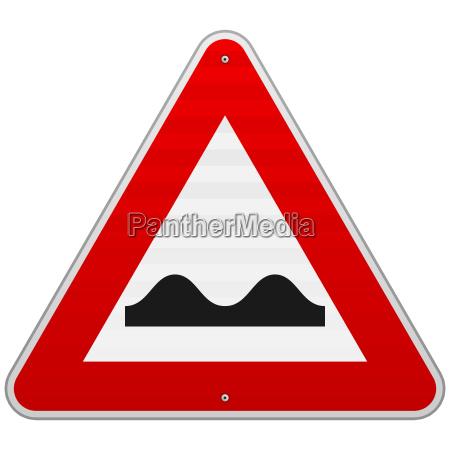 bumpy road sign