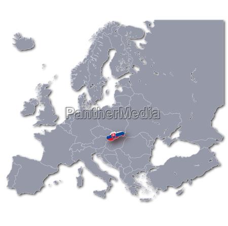europakarte slowakei