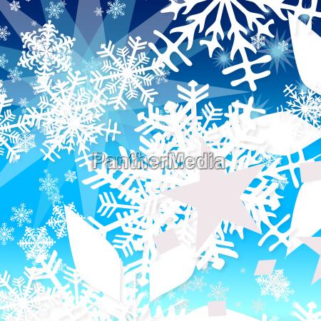 weihnachten schneeflocken sterne