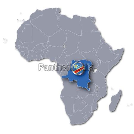 afrikakarte kongo
