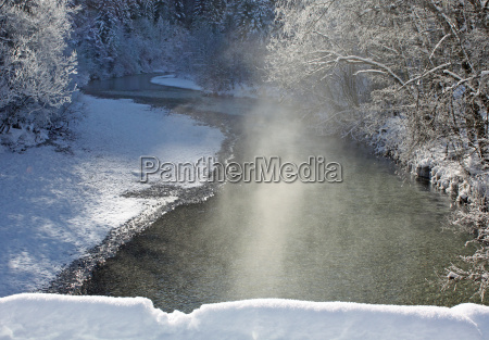 winter ice frost gaffer beauty river