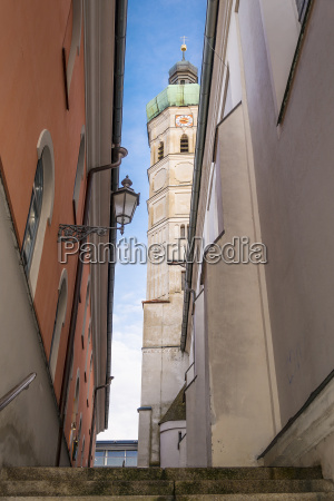 narrow alley with view to a