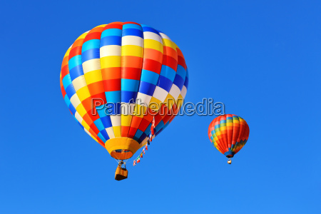colorful hot air balloons