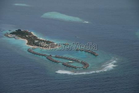 maldives island air aufnahmer
