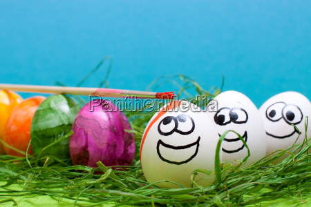 funny blue background for easter