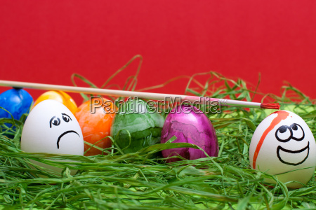 funny red background for easter