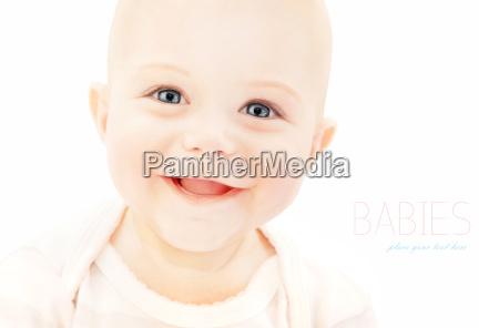 happy baby face