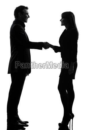 business couple woman man