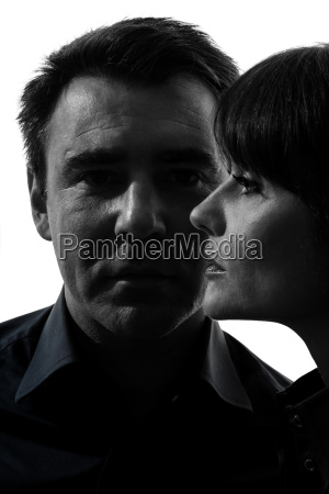 couple woman man close up portrait