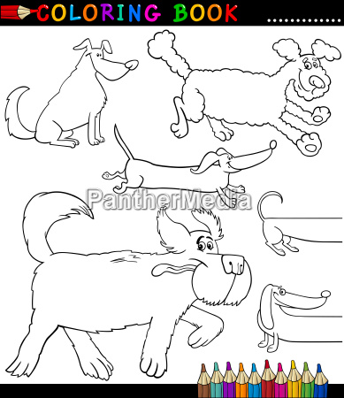 cartoon dogs or puppies coloring page