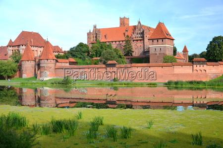 schloss malbork in der region pommern