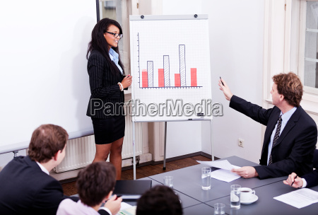 business people at a table in