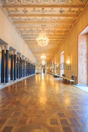 stockholm city hall corridor