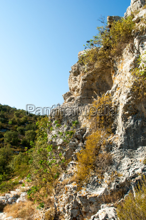 rocky scrubby landscape