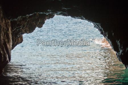 sea cave on the coast