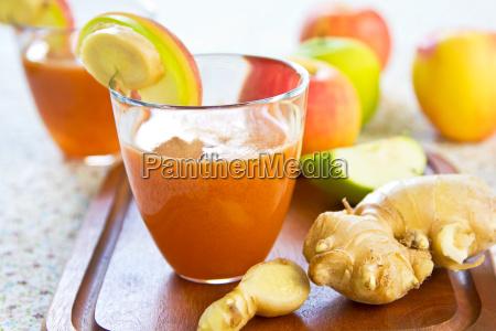 moehre mit apple und ingwer saft